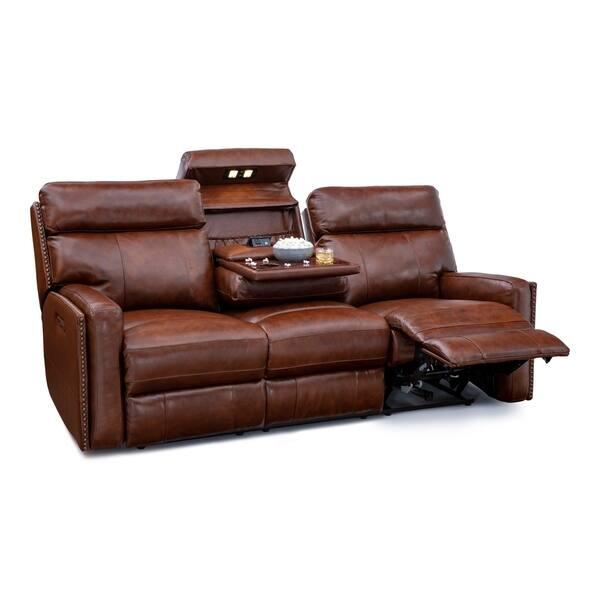 Seatcraft Lombardo Home Theater Seating Leather Sofa