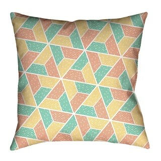 Katelyn Elizabeth Green Yellow & Orange Trapezoids Floor Pillows Double sided print with concealed zipper & Insert