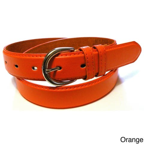 AFONiE Luxury bonded Leather Slim Belt