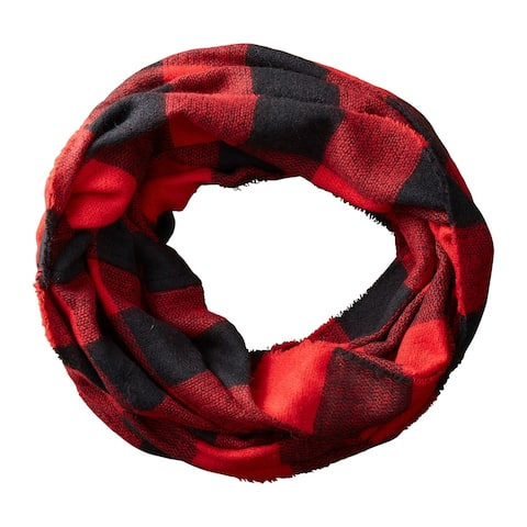 Tickled Pink Buffalo Check Infinity Scarf