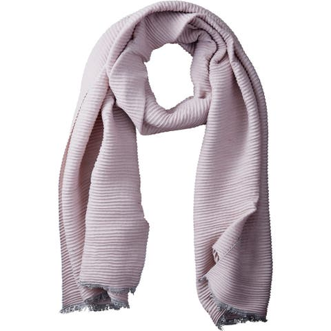 Tickled Pink Solid Ridged Scarf