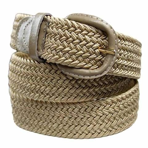AFONiE Unisex Braided Elastic Woven Stretch Belt