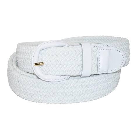 AFONiE Unisex Braided Elastic Woven Stretch Belt