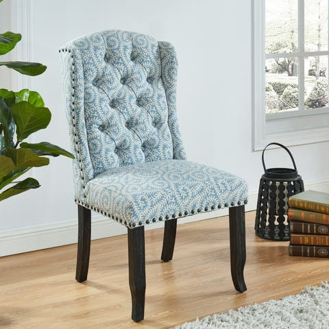 Copper Grove Velika Patterned Dining Chairs (Set of 2)