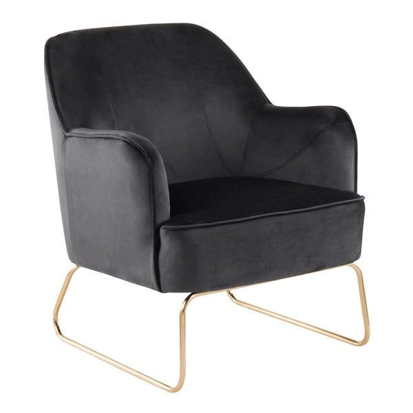 LumiSource Daniella Contemporary Accent Chair with Sleigh Legs  sc 1 st  Overstock.com & Shop LumiSource Daniella Contemporary Accent Chair with Sleigh Legs ...
