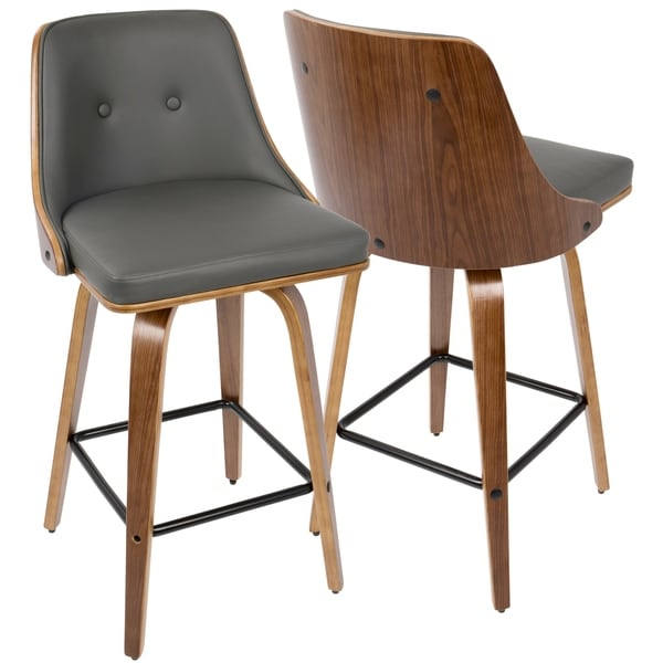 Carson Carrington Oscar 26-inch Mid-century Modern Counter Stool (Set of 2)