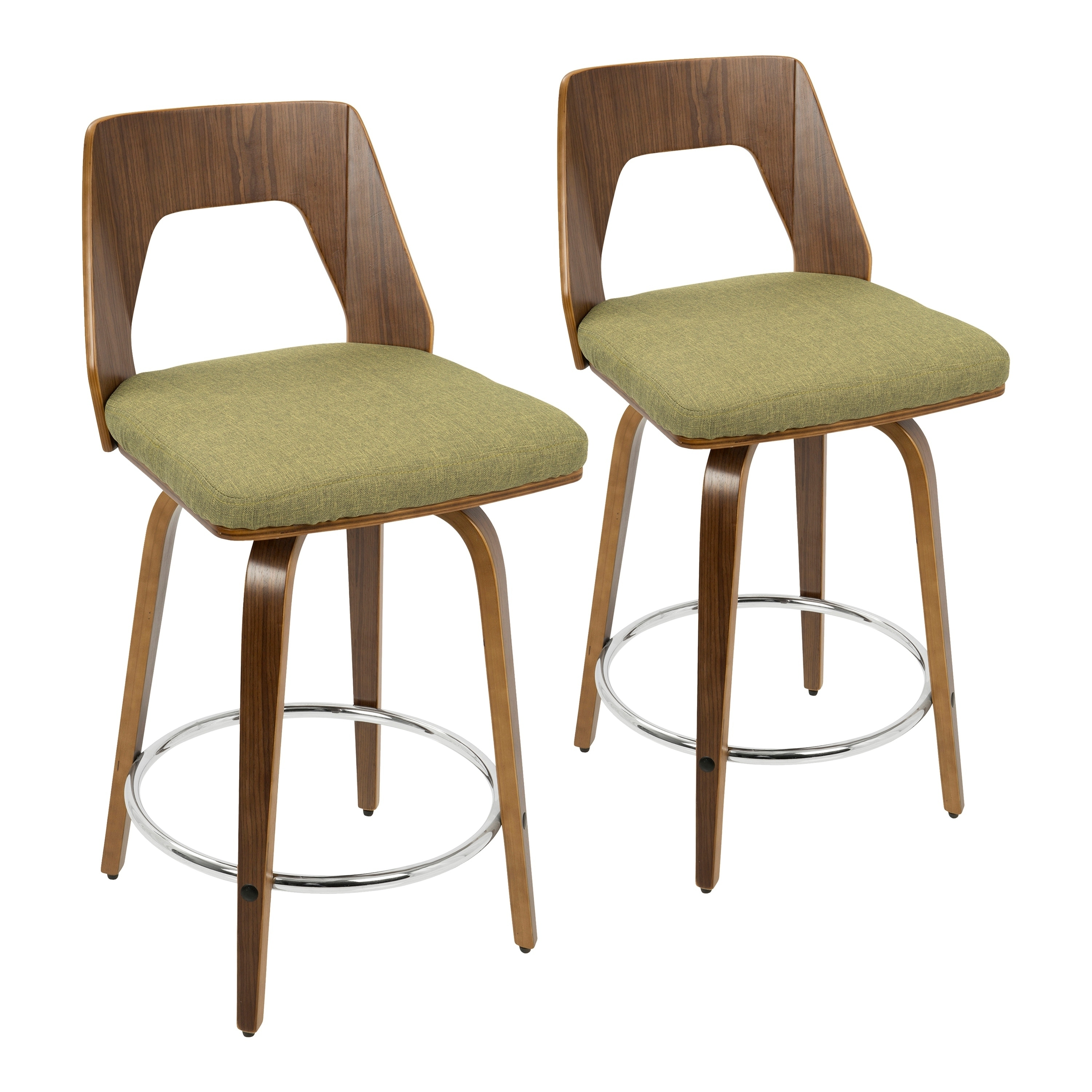 Phenomenal Carson Carrington Culnady Mid Century Modern Counter Stool Set Of 2 Squirreltailoven Fun Painted Chair Ideas Images Squirreltailovenorg