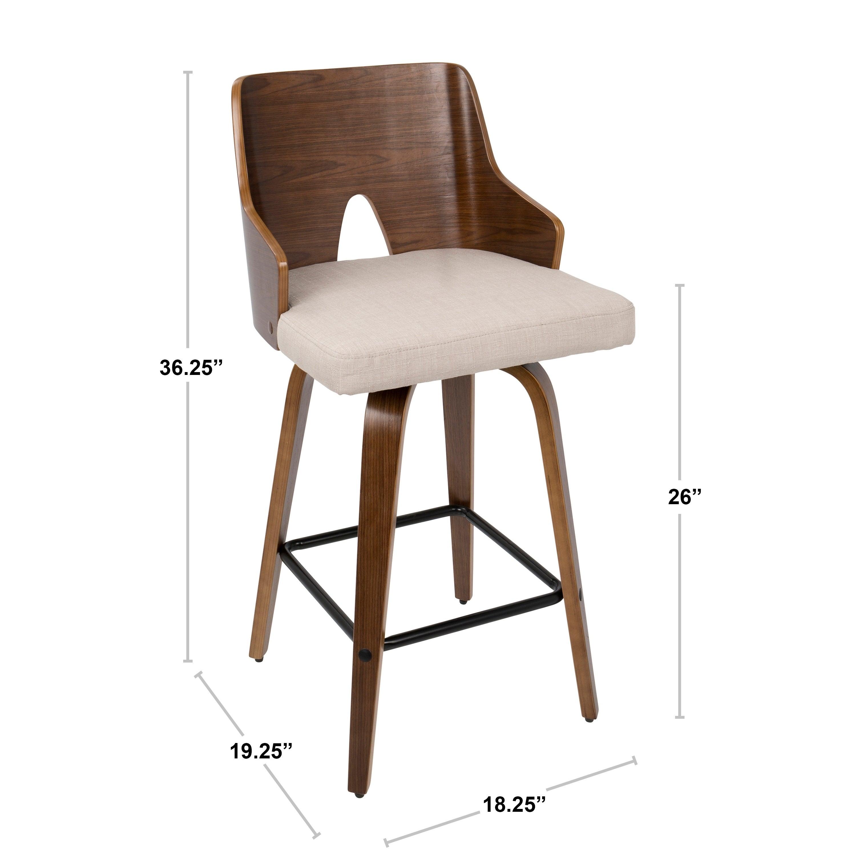 Astounding Carson Carrington Cranagh 26 Inch Swivel Counter Stool Set Of 2 Evergreenethics Interior Chair Design Evergreenethicsorg