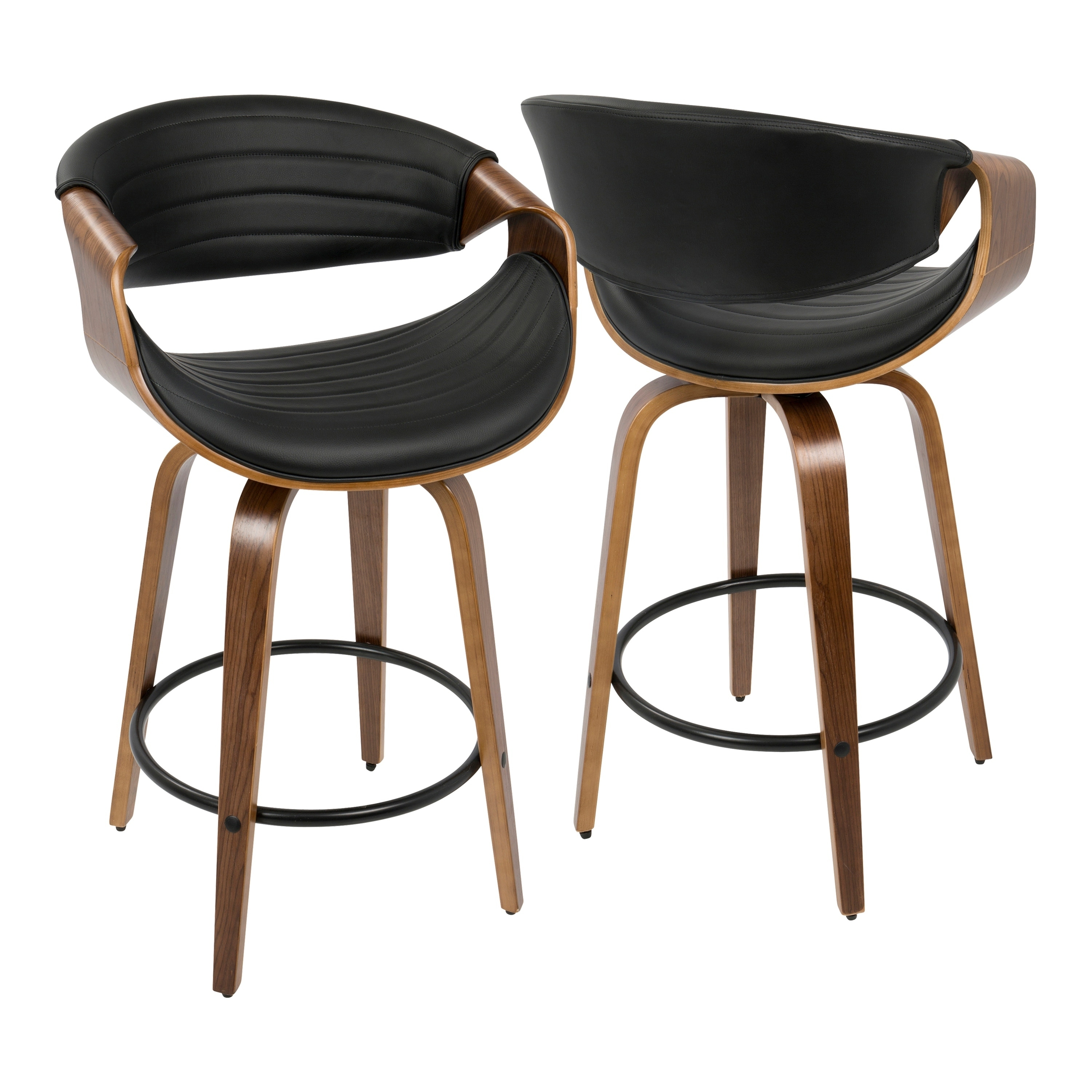 Fantastic Carson Carrington Solavagen Mid Century Modern Counter Stool Set Of 2 Squirreltailoven Fun Painted Chair Ideas Images Squirreltailovenorg