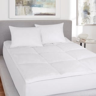 Five Queens Court Elegance No-Quill Featherbed - White