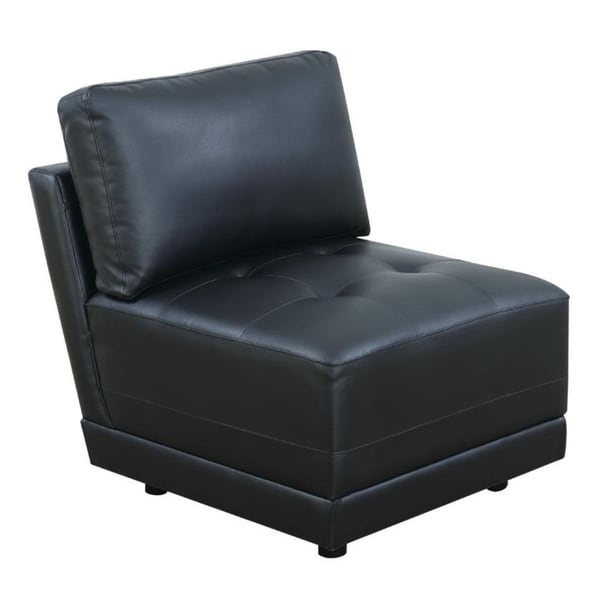 Cottage Bonded Leather Armless Chair