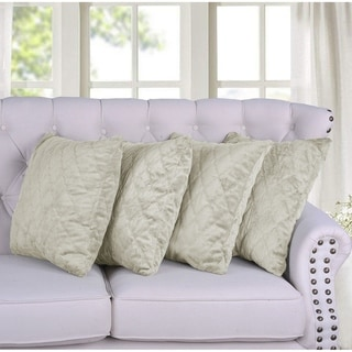 BOON Quilted Micromink 4-piece Decorative Pillow Cover Set