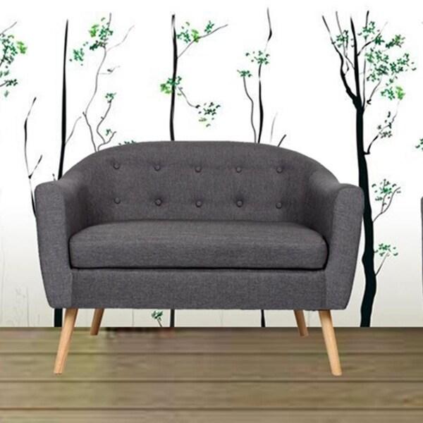 Carson Carrington Kaunas Tufted Fabric Loveseat Sofa