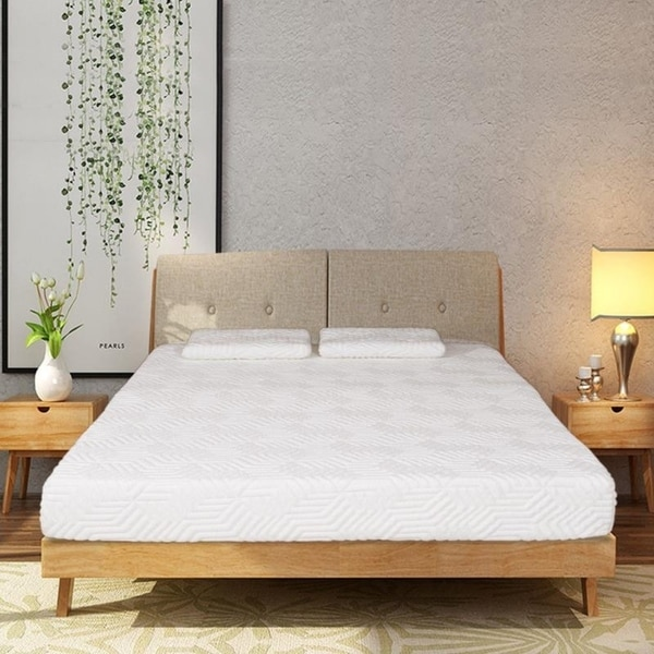 Comfort Collection 8-inch Medium Memory Foam Mattress Pad w/2 Pillows