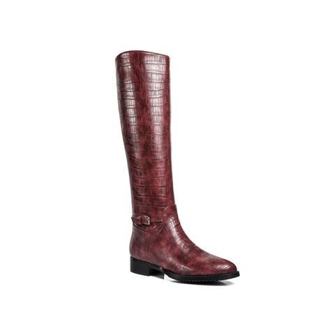 Ann Creek Womens Weenen Croc-Print Riding Boots