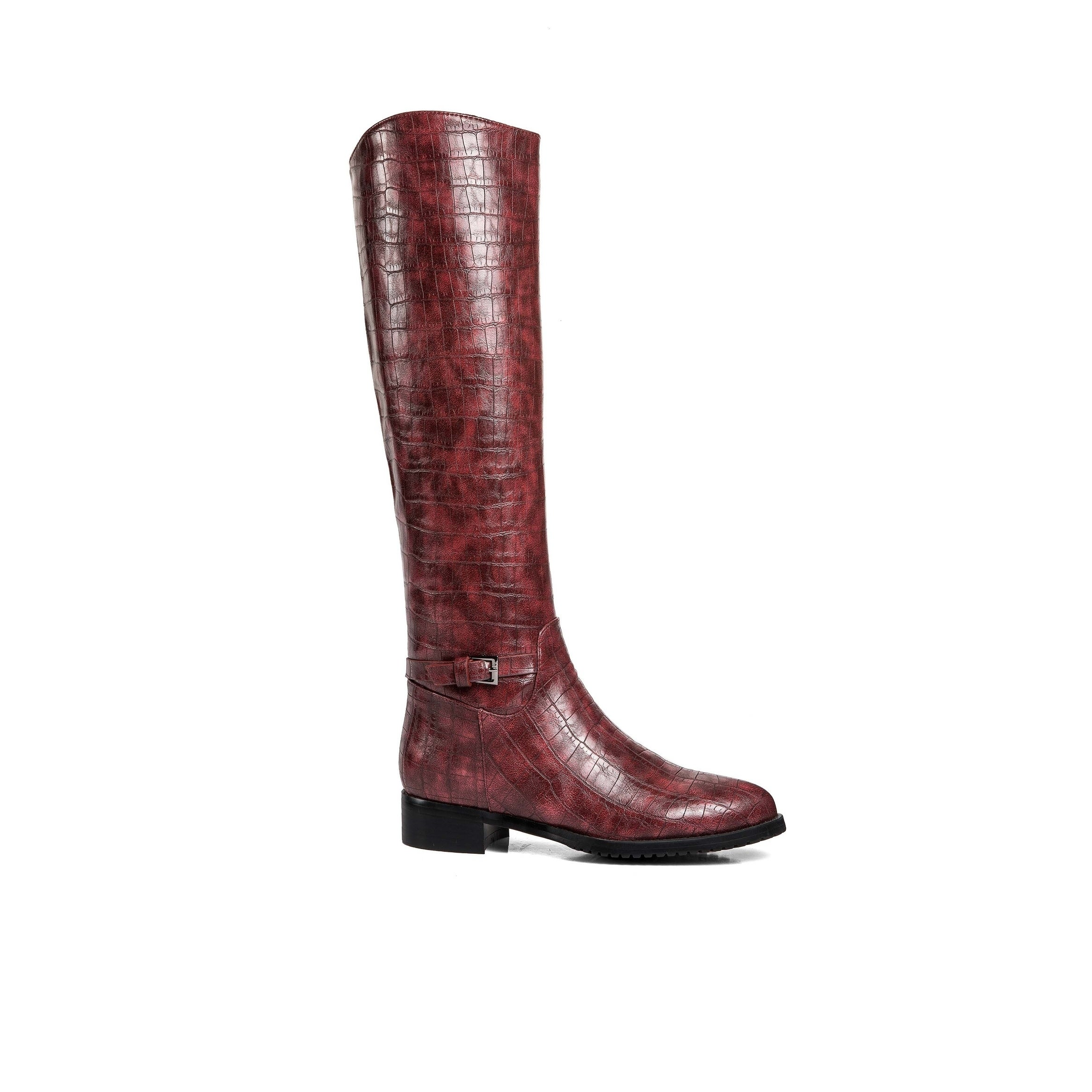 ea3c2baff9f Ann Creek Women s  Weenen  Croc-Print Riding Boots