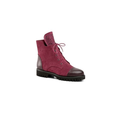 Ann Creek Womens Florie Two-Tone Lace-up Booties