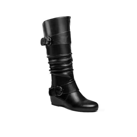 Ann Creek Women's 'Jardin' Low Heel Buckle Strap Boots