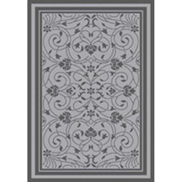 Baroque Light Grey/Anthracite Flatweave Indoor/Outdoor Area Rug - 8'10 x 11'9