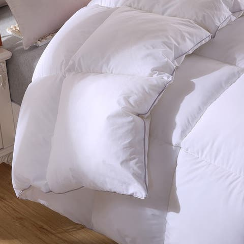 Twin Ducks Canadian Origin White Down Comforter-Bromont