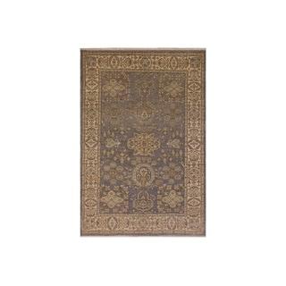Kafkaz Peshawar Caron Gray/Ivory Wool Rug - 6'0 x 8'10 - 6 ft. 0 in. x 8 ft. 10 in.