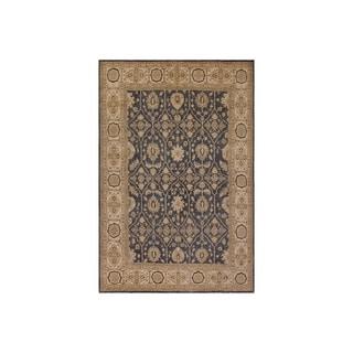 Kafkaz Peshawar Casimira Bluish Gray/Ivory Wool Rug - 8'2 x 9'8 - 8 ft. 2 in. x 9 ft. 8 in.