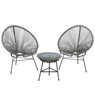 Acapulco Lounge Chair Set with Table