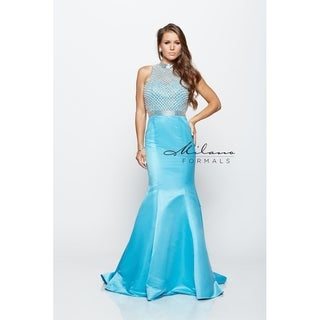 Milano Formals Special Event Blue Gown E-2140