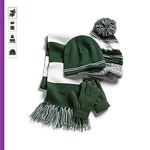 Sport-Tek Women's College Spirit Hat Scarf and Gloves 4 Piece Set
