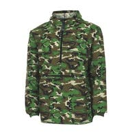 Charles River Apparel Women's Pack-n-go Windbreaker Pullover, Camo