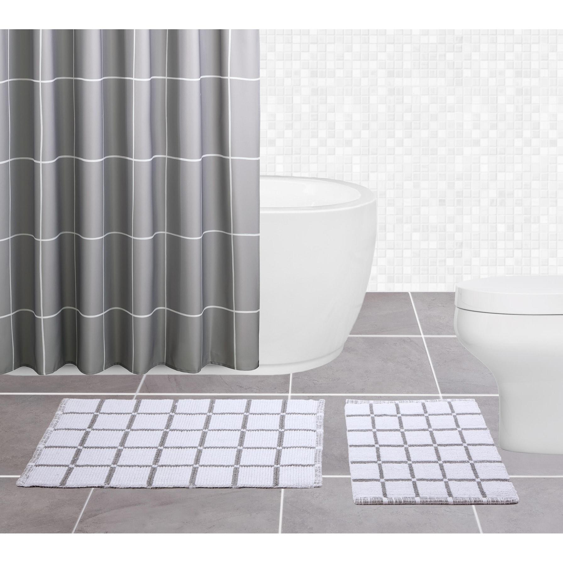 Sparrowhawk Brandon Reversible 2 Piece Gray White Bath Rug Set 1 5 X 2 1 5 X 2 Overstock 25463107