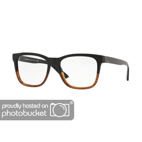 a0c063b153755 Versace VE3243 Men s Black Havana Frame Demo Lens Eyeglasses