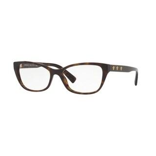 Versace VE3249A Women's Dark Havana Frame Demo Lens Eyeglasses
