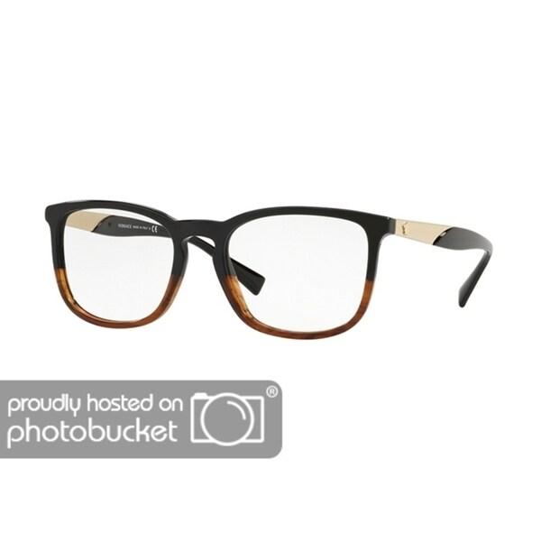 6963cec22a9 Shop Versace VE3252 Men s Black Havana Frame Demo Lens Eyeglasses - Free  Shipping Today - Overstock - 25463220
