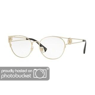Versace VE1250 Women's Pale Gold Frame Demo Lens Eyeglasses
