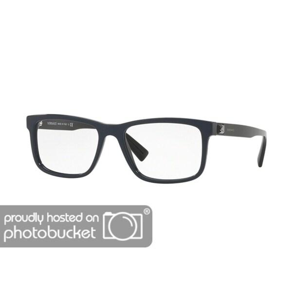 5992e746e6 Shop Versace VE3253 Men s Blue Frame Demo Lens Eyeglasses - Free Shipping  Today - Overstock - 25463232