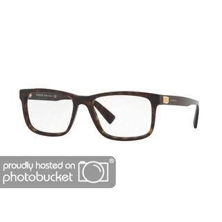 Versace VE3253A Men's Dark Havana Frame Demo Lens Eyeglasses