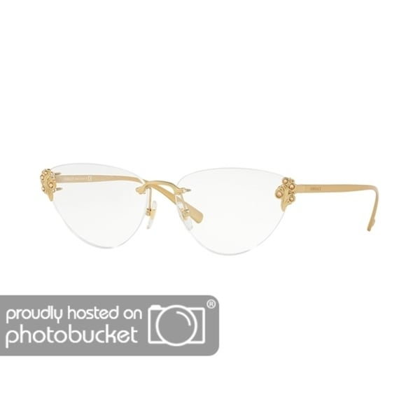 d83f80978b Shop Versace VE1254B Women s Tribute Gold Frame Demo Lens Eyeglasses - Free  Shipping Today - Overstock - 25463257