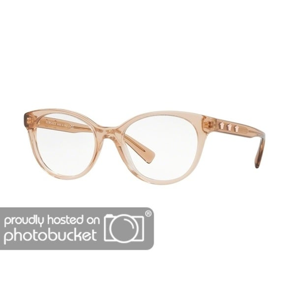 7b1a0ff038de Shop Versace VE3250 Women s Transparent Light Brown Frame Demo Lens  Eyeglasses - Free Shipping Today - Overstock - 25463264