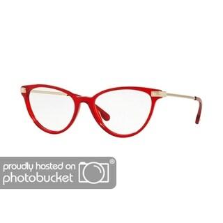 Versace VE3261 Women's Transparent Red Frame Demo Lens Eyeglasses