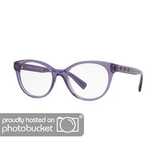 Versace VE3250 Women's Transparent Violet Frame Demo Lens Eyeglasses