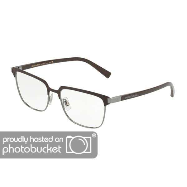 b090a20a56dd Shop Dolce   Gabbana DG1302 Men s Matte Brown Gunmetal Frame Demo Lens  Eyeglasses - Free Shipping Today - Overstock.com - 25463326