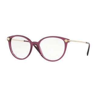 Versace VE3251B Women's Transparent Plum Frame Demo Lens Eyeglasses