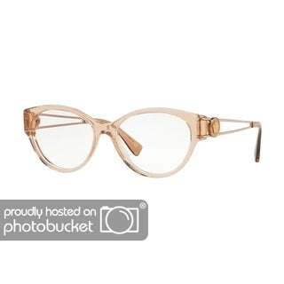 Versace VE3254 Women's Transparent Brown Frame Demo Lens Eyeglasses