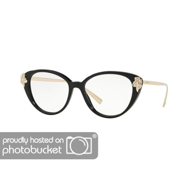 6154d2023ab9 Shop Versace VE3262B Women's Black Frame Demo Lens Eyeglasses - Free  Shipping Today - Overstock - 25463359
