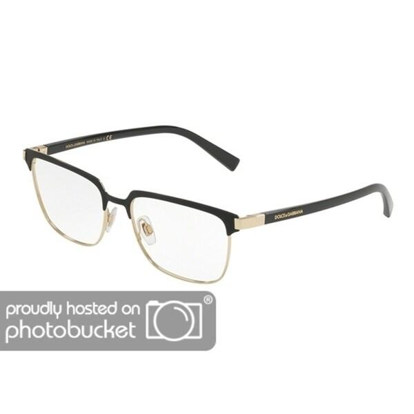 6812bb8d0d7a Shop Dolce & Gabbana DG1302 Men's Matte Black/Pale Gold Frame Demo Lens  Eyeglasses - Free Shipping Today - Overstock - 25463374