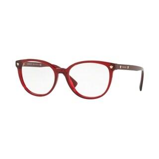 Versace VE3256 Women's Transparent Red Frame Demo Lens Eyeglasses