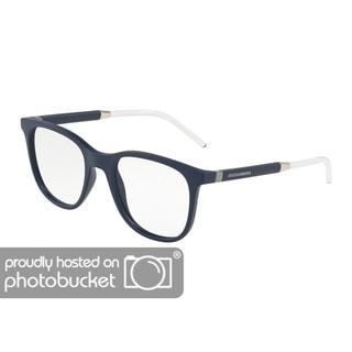 9a484152f9d Shop Dolce   Gabbana DG5037 Men s Matte Blue Frame Demo Lens Eyeglasses - Free  Shipping Today - Overstock - 25463453