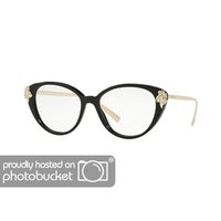 d58e5352355 Shop Versace VE1254B Women s Tribute Gold Frame Demo Lens Eyeglasses ...