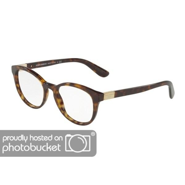 1e3c1d3ecb9 Dolce  amp  Gabbana DG3268 Women  x27 s Havana Frame Demo Lens Eyeglasses